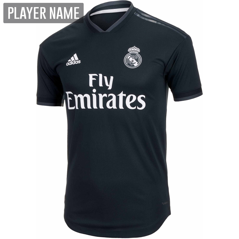 5244155eb Adidas Real Madrid Away Authentic Jersey  18- 19 (Tech Onix Bold ...