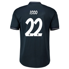 Adidas Real Madrid 'ISCO 22' Away Authentic Jersey '18-'19 (Tech Onix/Bold Onix/White)