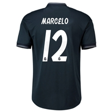 Adidas Real Madrid 'MARCELO 12' Away Authentic Jersey '18-'19 (Tech Onix/Bold Onix/White)