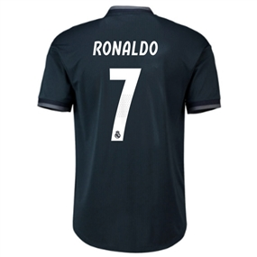 Adidas Real Madrid 'RONALDO 7' Away Authentic Jersey '18-'19 (Tech Onix/Bold Onix/White)