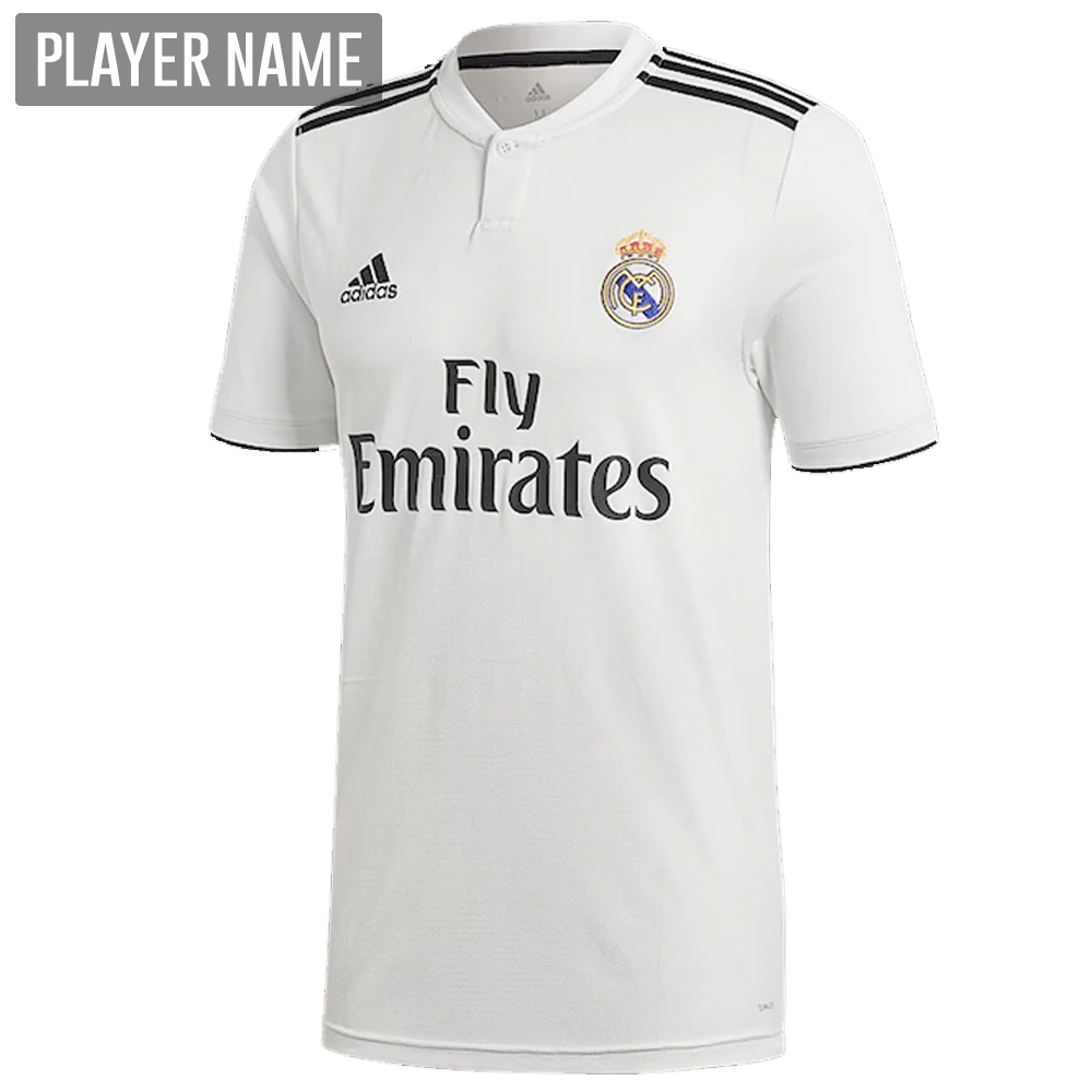 Adidas Real Madrid Home Jersey  18- 19 (Core White Black)  50852705e