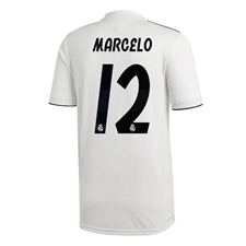 Adidas Real Madrid 'MARCELO 12' Home Jersey '18-'19 (Core White/Black)