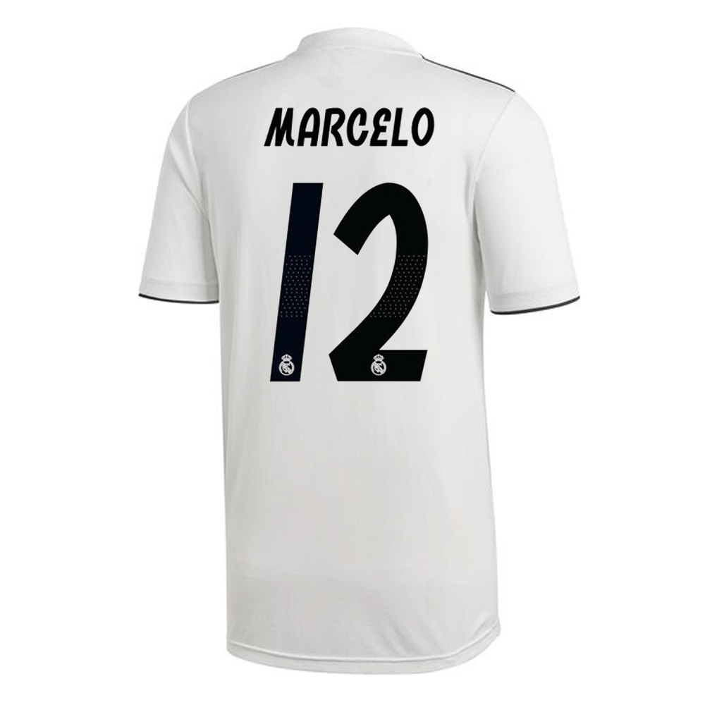 90ef1cf775b Adidas Real Madrid  MARCELO 12  Home Jersey  18- 19 (Core White ...