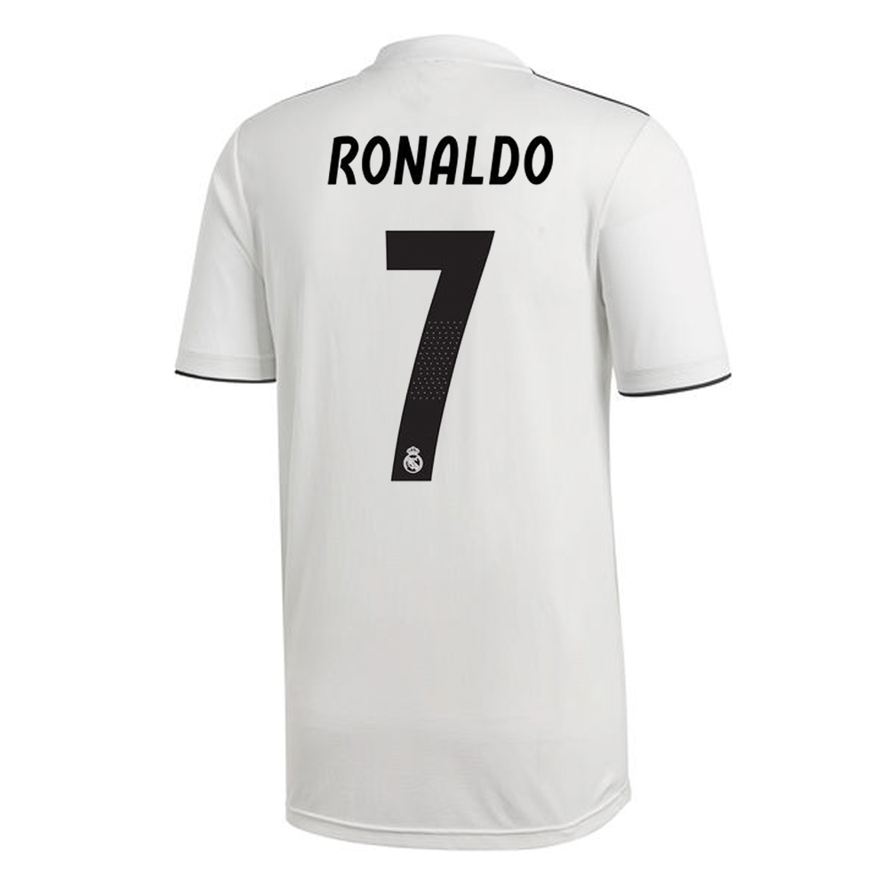 size 40 c7f54 35a6f Adidas Real Madrid 'RONALDO 7' Home Jersey '18-'19 (Core White/Black)