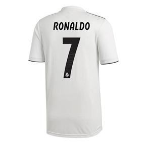 Adidas Real Madrid 'RONALDO 7' Home Jersey '18-'19 (Core White/Black)