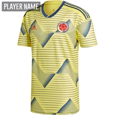 Adidas Colombia Home Jersey 2019 (Light Yellow/Night Marine)