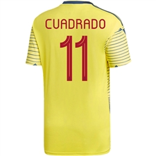 Adidas Colombia 'CUADRADO 11' Home Jersey 2019 (Light Yellow/Night Marine)