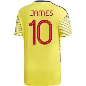 Adidas Colombia 'JAMES 10' Home Jersey 2019 (Light Yellow/Night Marine)