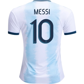 Adidas Argentina 'MESSI 10' Home Jersey 2019 (White/Light Aqua)