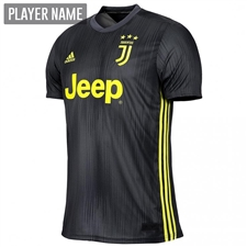 Adidas Juventus Third Jersey '18-'19 (Carbon/Shock Yellow)