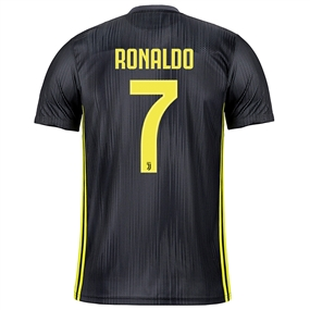 Adidas Juventus 'RONALDO 7' Third Jersey '18-'19 (Carbon/Shock Yellow)
