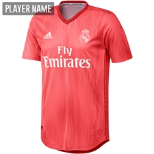 Adidas Real Madrid Third Authentic Jersey '18-'19 (Real Coral/Vivid Red)