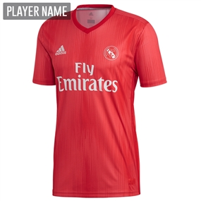 Adidas Real Madrid Third Jersey '18-'19 (Real Coral/Vivid Red)