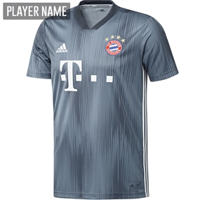 Adidas Bayern Munich Third Jersey '18-'19 (Raw Steel/Utility Blue/White)