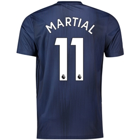 Adidas Manchester United 'MARTIAL 11' Third Jersey '18-'19 (Collegiate Navy/Night Navy/Matte Gold)