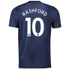 Adidas Manchester United 'RASHFORD 10' Third Jersey '18-'19 (Collegiate Navy/Night Navy/Matte Gold)