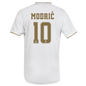 Adidas Real Madrid 'MODRIC 10' Home Jersey '19-'20 (White)