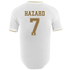 Adidas Real Madrid 'HAZARD 7' Home Authentic Jersey '19-'20 (White)
