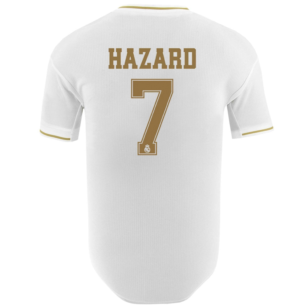 timeless design b3517 14a61 Adidas Real Madrid 'HAZARD 7' Home Authentic Jersey '19-'20 (White)
