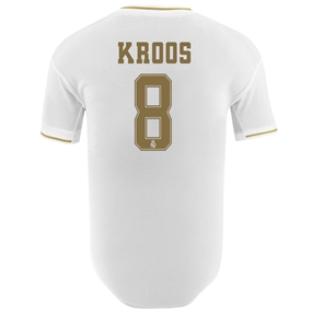 Adidas Real Madrid 'KROOS 8' Home Authentic Jersey '19-'20 (White)