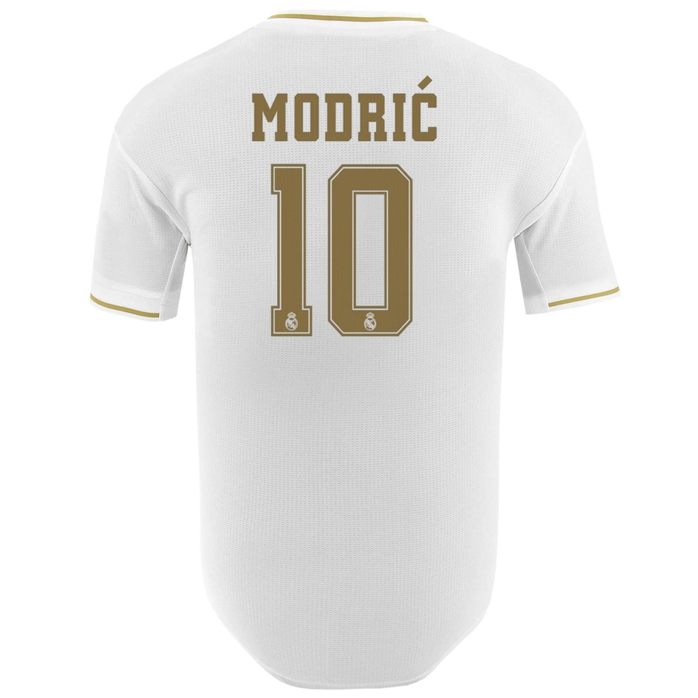 watch 29fe7 e09eb Adidas Real Madrid 'MODRIC 10' Home Authentic Jersey '19-'20 (White)