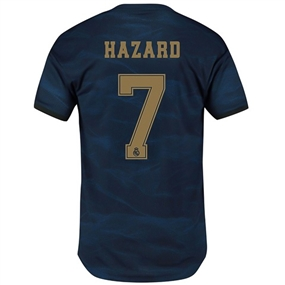 Adidas Real Madrid 'HAZARD 7' Away Authentic Jersey '19-'20 (Night Indigo)