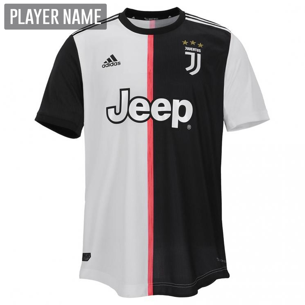 a2093e46a Adidas Juventus Home Authentic Jersey  19- 20 (Black White ...