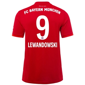 Adidas Bayern Munich 'LEWANDOWSKI 9' Home Jersey '19-'20 (FCB True Red)