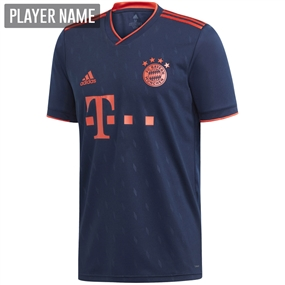 Adidas Bayern Munich Third Jersey '19-'20 (Collegiate Navy/Bright Red)