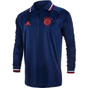 Adidas Bayern Munich Icons L/S Retro Jersey (Collegiate Navy/FCB True Red)