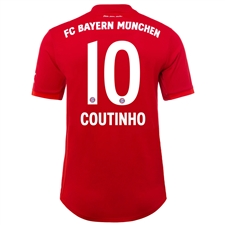 Adidas Bayern Munich 'COUTINHO 10' Home Authentic Jersey '19-'20 (FCB True Red)