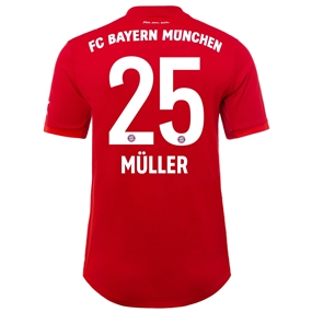 Adidas Bayern Munich 'MULLER 25' Home Authentic Jersey '19-'20 (FCB True Red)