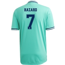 Adidas Real Madrid 'HAZARD 7' Third Authentic Jersey '19-'20 (Hi-Res Green/Night Indigo)