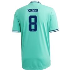 Adidas Real Madrid 'KROOS 8' Third Authentic Jersey '19-'20 (Hi-Res Green/Night Indigo)