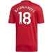 Adidas Manchester United 'B. FERNANDES 18' Home Jersey '19-'20 (Real Red)