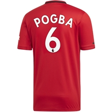 Adidas Manchester United 'POGBA 6' Home Jersey '19-'20 (Real Red)