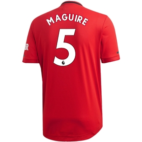 Adidas Manchester United 'MAGUIRE 5' Home Authentic Jersey '19-'20 (Real Red)