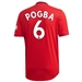 Adidas Manchester United 'POGBA 6' Home Authentic Jersey '19-'20 (Real Red)