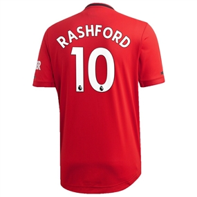 Adidas Manchester United 'RASHFORD 10' Home Authentic Jersey '19-'20 (Real Red)