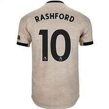 Adidas Manchester United 'RASHFORD 10' Away Authentic Jersey '19-'20 (Linen)