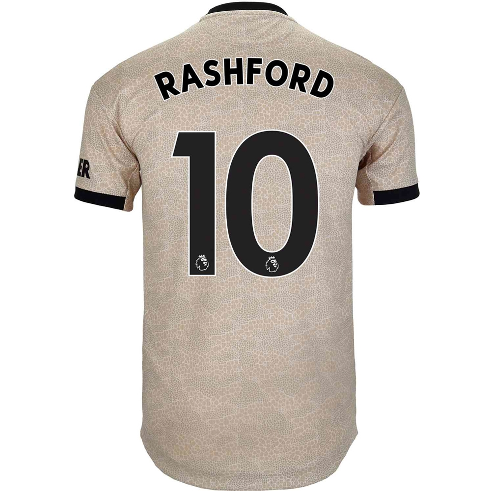 100% authentic d9e1f 2d529 Adidas Manchester United 'RASHFORD 10' Away Authentic Jersey '19-'20 (Linen)