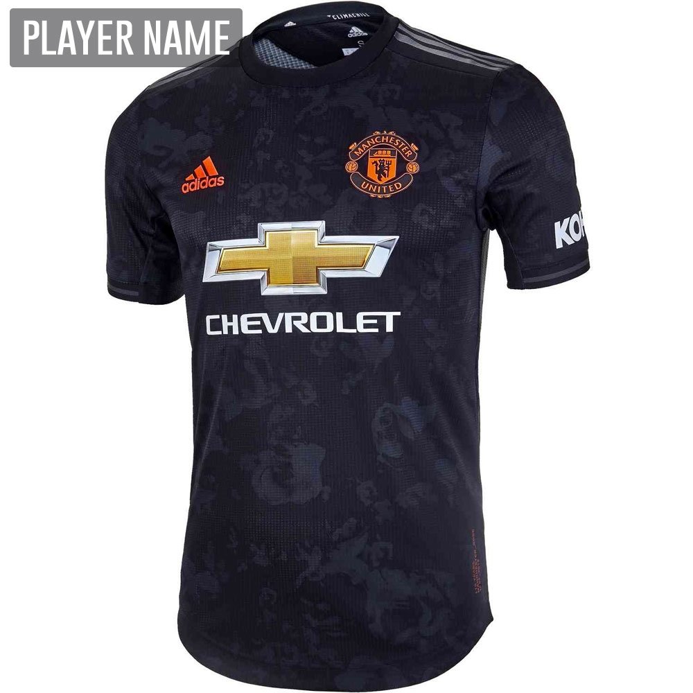huge selection of de928 c665b Adidas Manchester United Third Authentic Jersey '19-'20 (Black)