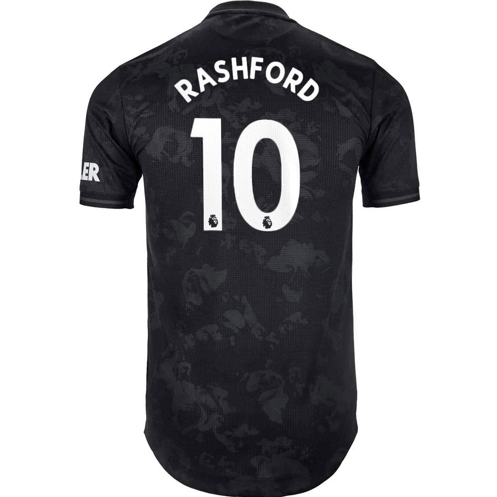 best service d7743 cd4a8 Adidas Manchester United 'RASHFORD 10' Third Authentic Jersey '19-'20  (Black)