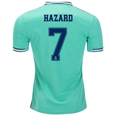 Adidas Real Madrid 'HAZARD 7' Third Jersey '19-'20 (Hi-Res Green/Night Indigo)