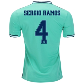 Adidas Real Madrid 'SERGIO RAMOS 4' Third Jersey '19-'20 (Hi-Res Green/Night Indigo)