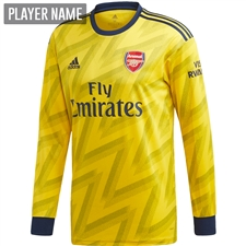 Adidas Arsenal Away Long Sleeve Jersey '19-'20 (Equipment Yellow)