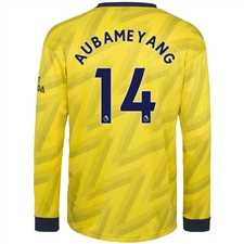 Adidas Arsenal 'AUBAMEYANG 14' Away Long Sleeve Jersey '19-'20 (Equipment Yellow)