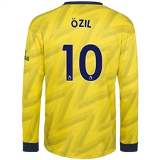 Adidas Arsenal 'OZIL 10' Away Long Sleeve Jersey '19-'20 (Equipment Yellow)