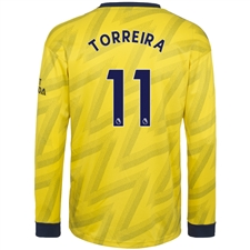 Adidas Arsenal 'TORREIRA 11' Away Long Sleeve Jersey '19-'20 (Equipment Yellow)