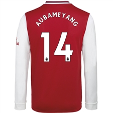 Adidas Arsenal 'AUBAMEYANG 14' Home Long Sleeve Jersey '19-'20 (Scarlet)